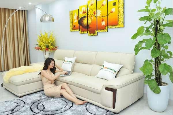 bộ bàn ghế sofa da nhập khẩu Trung Quốc