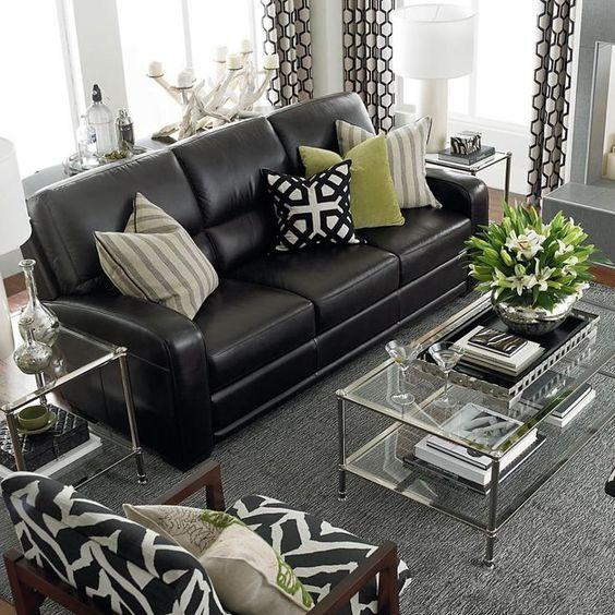 Mẫu ghế sofa da bộ rời cho phòng khách