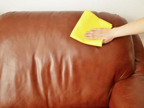 Làm sạch bộ ghế sofa da để tránh nấm mốc và bụi bẩn
