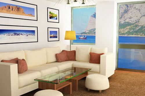Ghế sofa cần cách tường vài cm để đảm bảo độ bền và tốt cho phòng thuỷ