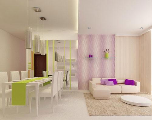 Nên chọn những gam màu sáng để tạo cảm giác thoải mái rộng rãi trong phòng khách